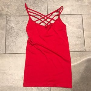 Red cage tank